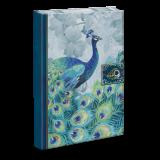 Peacock Brooch Embellished Journal