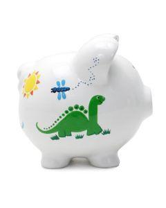 Piggy Bank - Handpainted -  Dinosaur