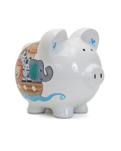 Piggy Bank - Handpainted - Noah's Ark