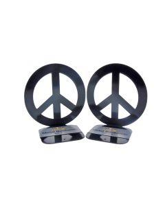 Peace Bookends Black