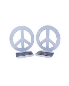 Peace Bookends White