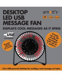 Desktop USB LED Message Fan