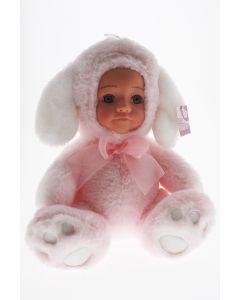 Fur Baby 25cm Pink/White Puppy COCO
