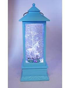 Blue W-S Lantern Unicorn w Baby