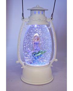 White Oval W-S Lantern Mermaid/Turtle