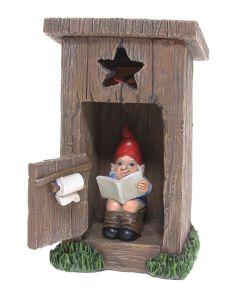 Gnome on toilet  solar  6 (PREORDER)