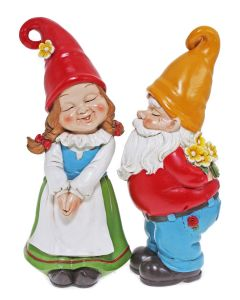 Set of two kissing gnomes 6 (PREORDER)