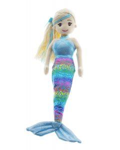 45cm CLEO Blue Rainbow Mermaid