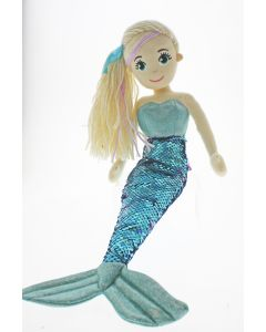 45cm KIA Flip Sequined Blue & Purple Mermaid