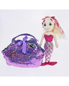 30 F-S Bag Purple SHELLEY Mermaid