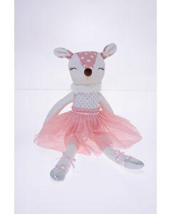 35cm Deer Ballerina Plush - Pink