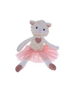 35cm Lamb Ballerina Plush Pink