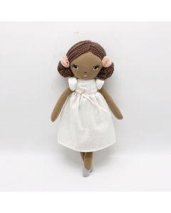 35cm Plush Doll White Dress