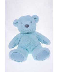 Sitting Plush Bear Blue
