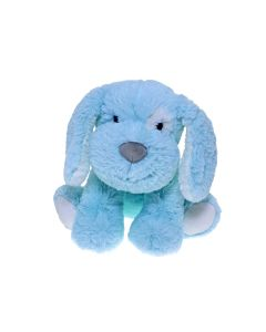 Sitting Plush Dog Blue