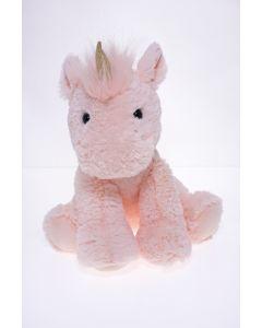Sitting Plush Unicorn Pink
