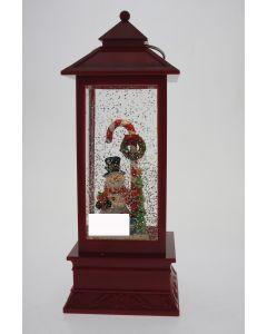 LED W-S Lantern Snowman/CandyC