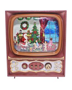 Retro W-S TV Santa Scene