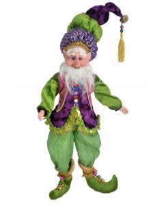 45cm Pose-able Elf Purple, Green & Gold