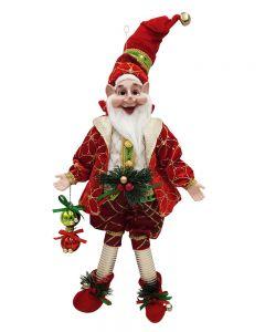 50cm Poseable Elf Red Bells